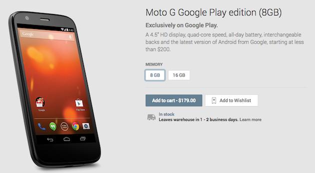 Motorola Moto G Google Play Edition