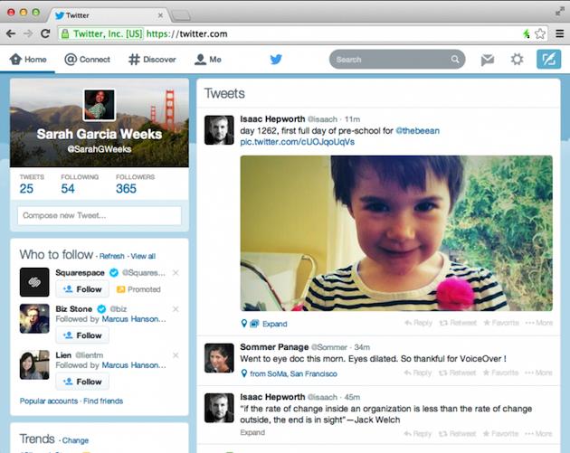 Twitter rediseña su interfaz web