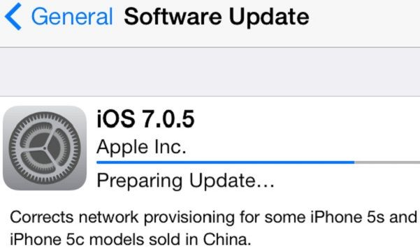 Apple lanza iOS 7.0.5 para los iPhone 5s e iPhone 5c