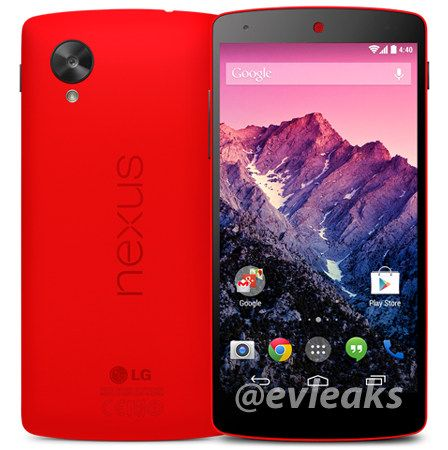 Nexus 5 asoma en rojo 301mx