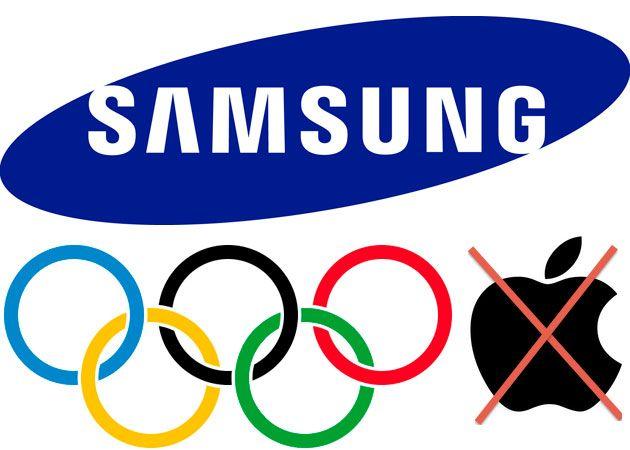 Samsung no quiere logos de Apple Juegos Olímpicos