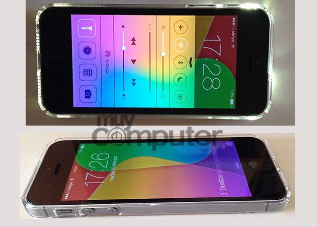 Spigen Ultra Thin Crystal Shell flash funda iPhone 5s