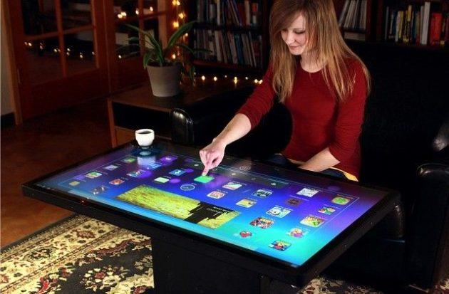mesa de café y tablet i301mx
