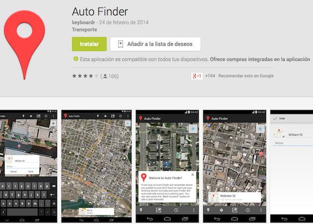 Recuerda dónde has aparcado con Auto Finder para Android