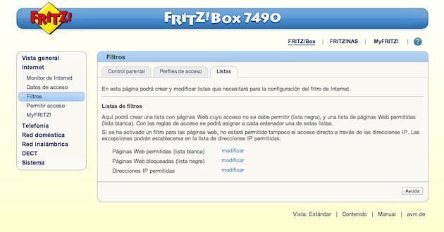 FRITZ!Box 7490 filtros