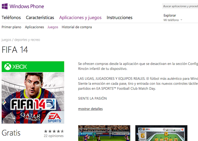 Fifa 14 llega a Windows Phone 8