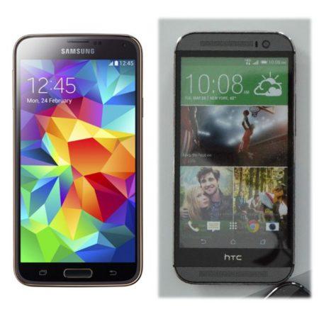 Galaxy S5 y HTC One M8 2301m