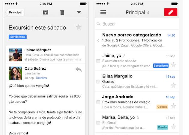 La actualización en segundo plano llega a Gmail para iOS