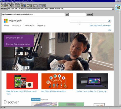 Internet Explorer 1.5 2301mx