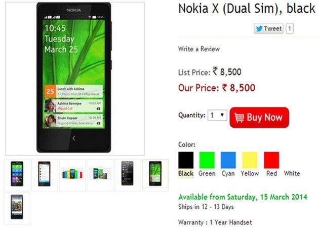 Nokia X con Android se estrena en India