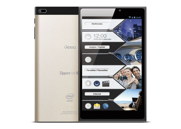 Vexia Zippers Tab 8i Golden Edition, nueva tableta con Intel Atom