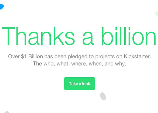 Kickstarter supera los mil millones de dólares en donaciones