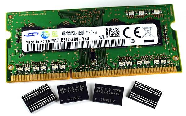 Samsung memorias DDR3 de 20 nanómetros