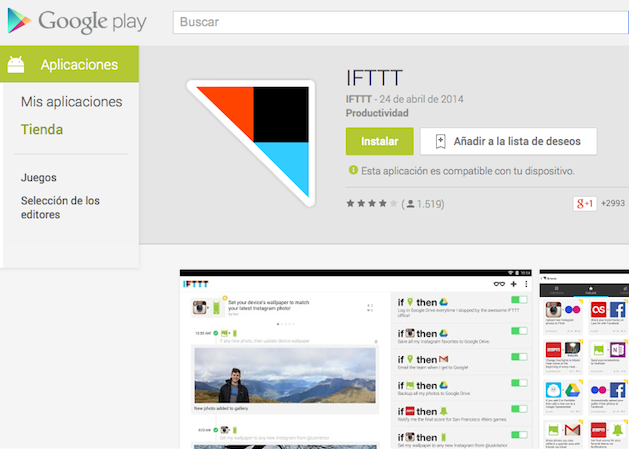 IFTTT llega a Android