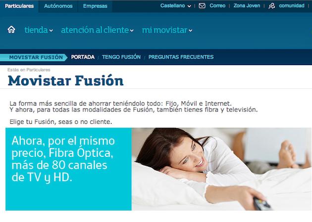 Movistar Fusión ADSL fibra