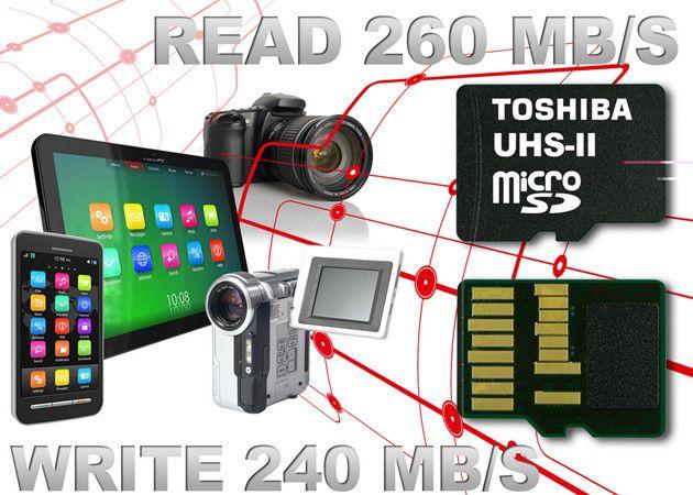 """Tarjetas microSD Toshiba, """"las más rápidas del mercado"""""""
