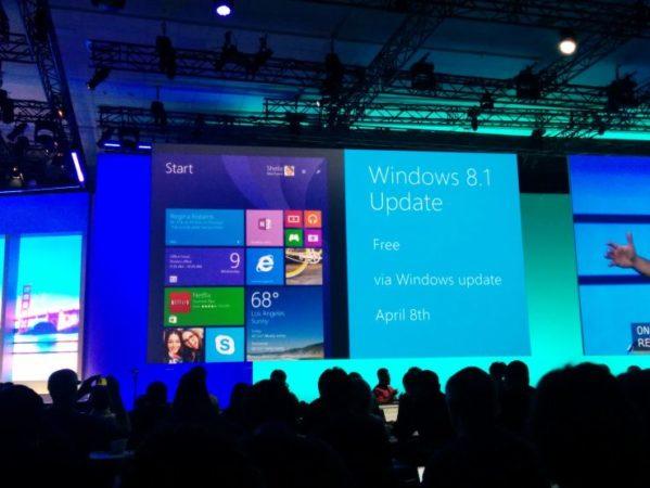 Windows 8.1 llegará el 8 de abril