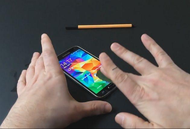 lector de huellas dactilares del Galaxy S5