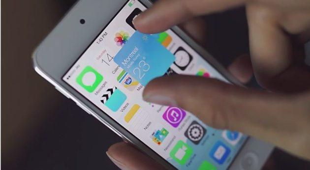 iOS 8 con iconos inteligentes