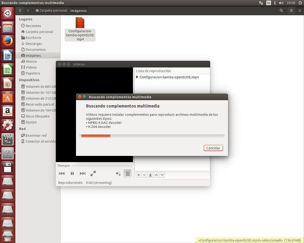Buscar codecs en Ubuntu