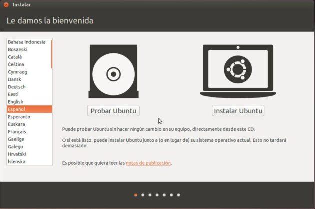 Iniciando Ubuntu Live