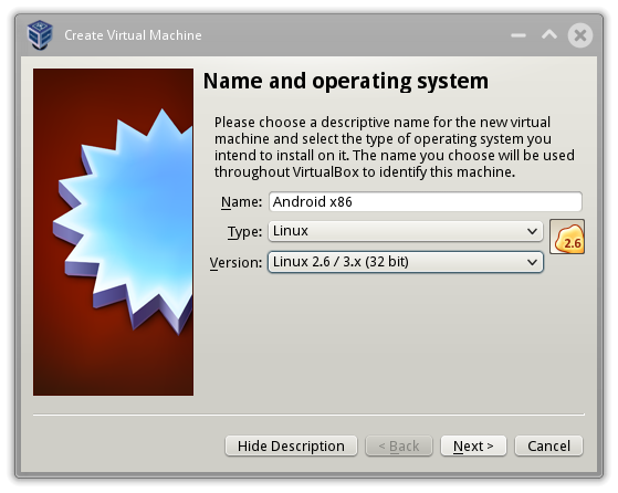Creacion máquina virtual VirtualBox con Linux genérico