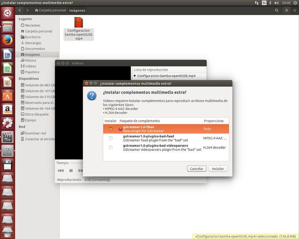 Codecs a instalar en Ubuntu