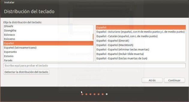 Elegir teclado en Ubuntu