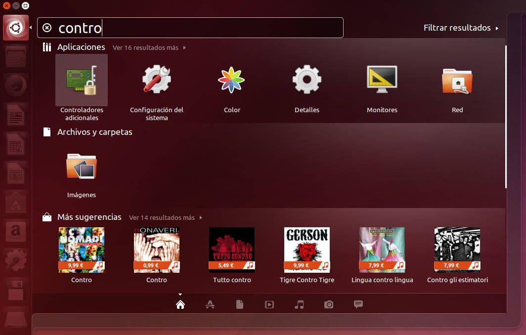 Controladores adicionales en el Dash de Ubuntu/Unity