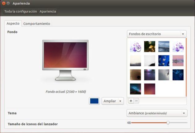 Apariencia - Aspecto en Ubuntu