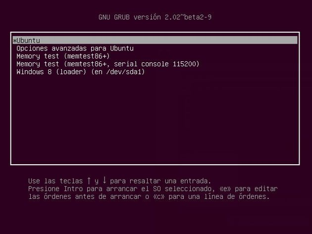 Grub con Windows y Ubuntu