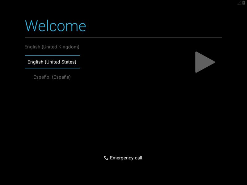 Elegir idioma en Android x86