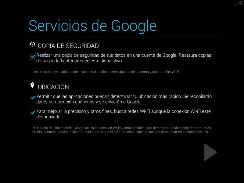 Configuración de las copias de seguridad en Android x86