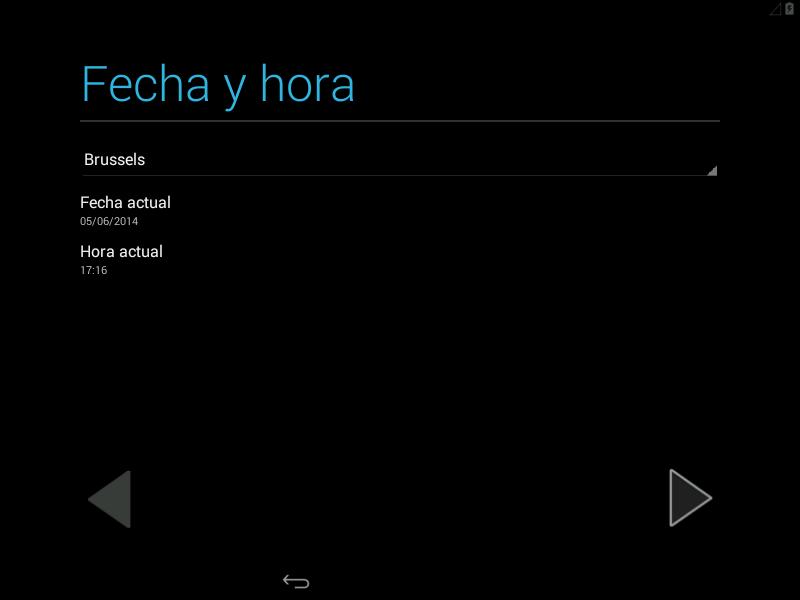 Configuración de la hora en Android x86