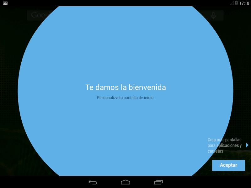 Bienvenida en Android x86