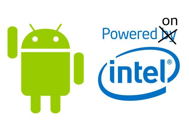 Android powered on Intel