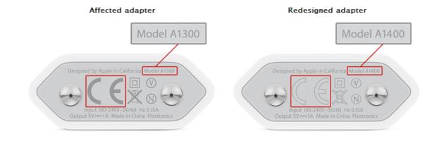 Adaptadores corriente USB Apple
