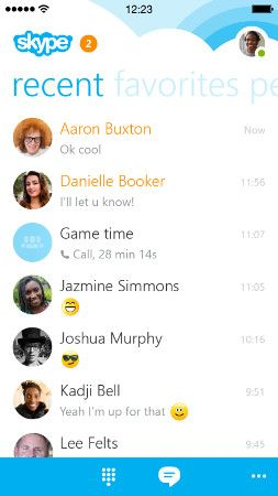 Skype para iPhone rediseñado