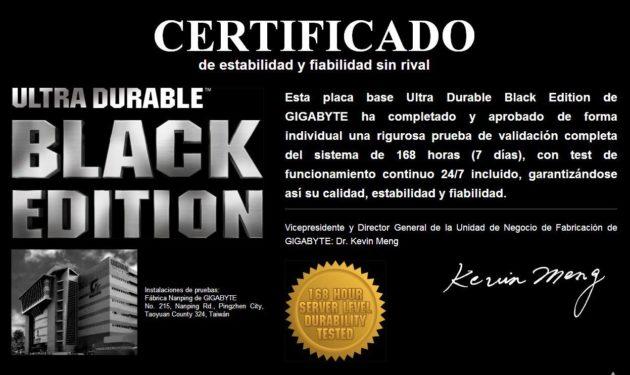placas base Black Edition de GIGABYTE