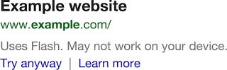 Aviso web incompatible Google