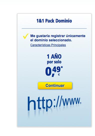 Cómo crear una web con 1&1 Mi Web (I): comprar el dominio 39
