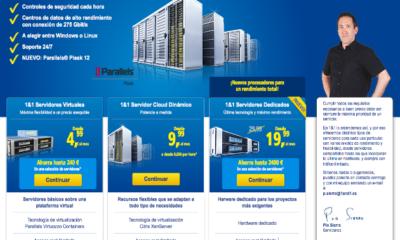 Cómo crear una web con 1&1 Mi Web (III): Modelos de servidores 114