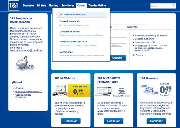 Cómo crear una web con 1&1 Mi Web (IV): Soluciones de correo 31