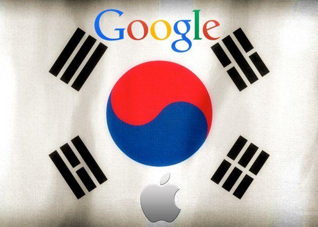 Corea del Sur, Google y Apple