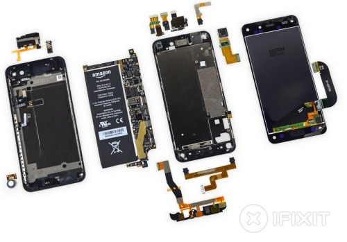 iFixit desmonta el Fire Phone de Amazon, recibe un 3 sobre 10