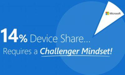 Microsoft admite la nueva realidad: tenemos un 14% de dispositivos 102