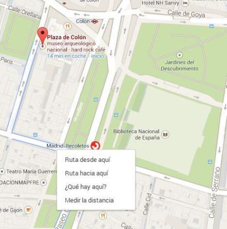 Cómo medir distancias con Google Maps