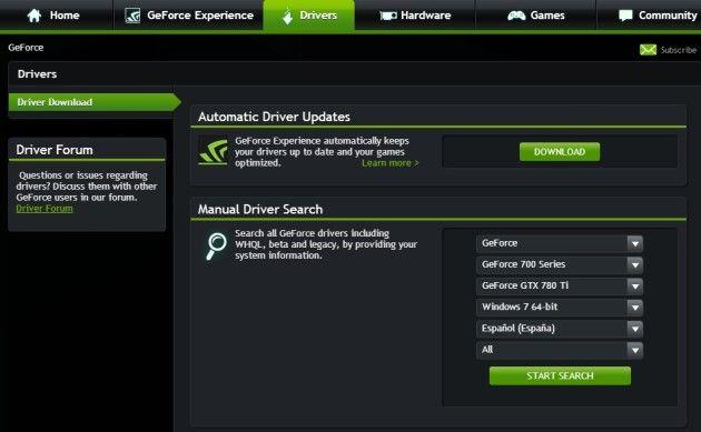 drivers GeForce 340.52