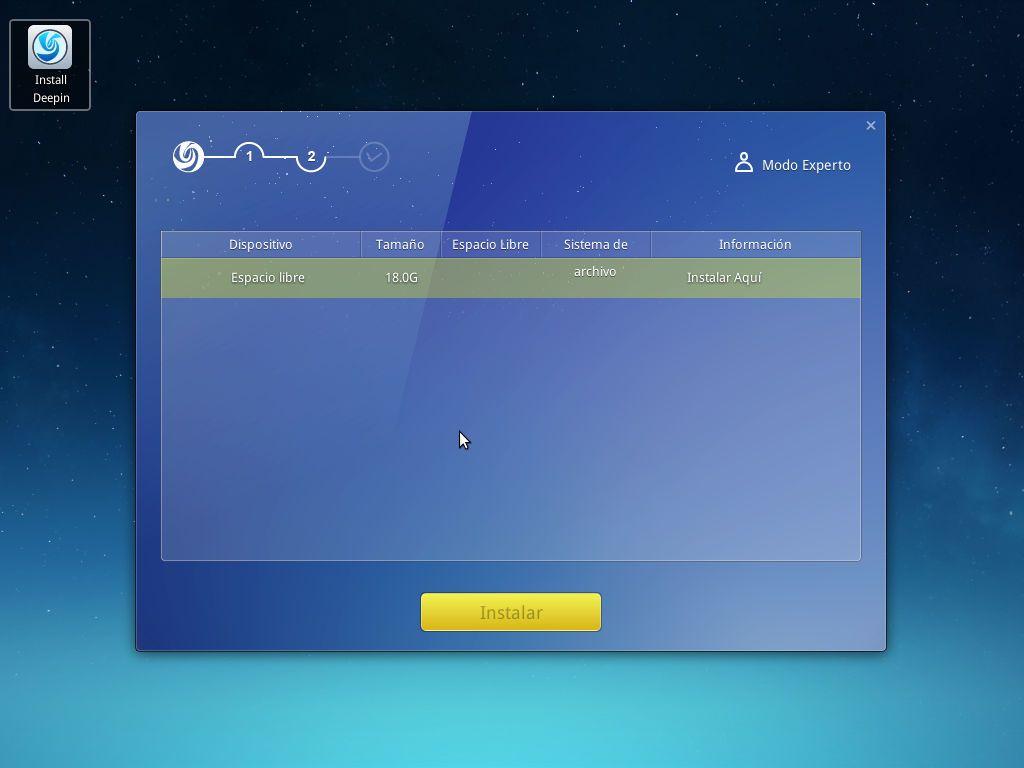 Instalación rápida de Linux Deepin