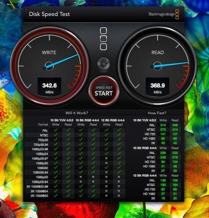 Prueba velocidad Lacie Rugged Thunderbolt 500 GB SSD